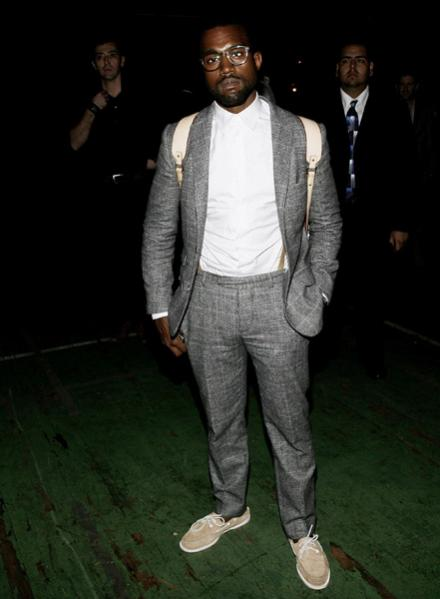 Kanye West, suit and boat shoes, the gentlemens ledger